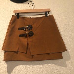 Anthropologie Meadow Rue buckle miniskirt